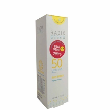 Radix Radix SPF50 Sun Spray 150ml Renksiz